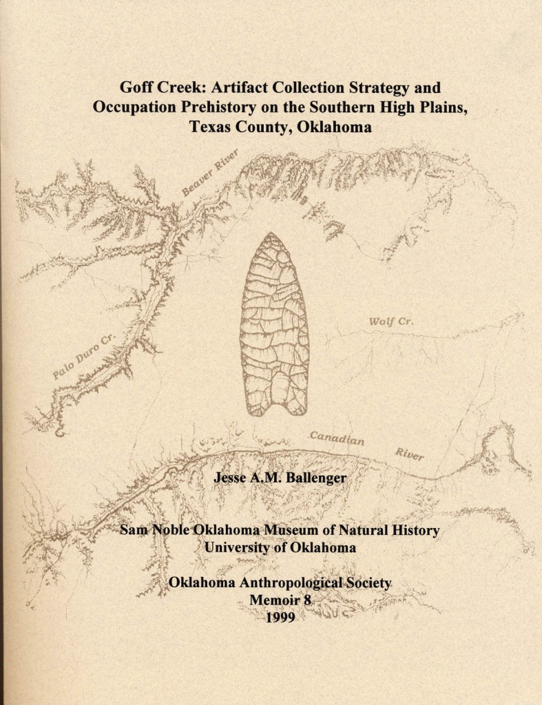 Jesse A.M. Ballenger Collection Strategy and Occupation Prehistory on the Southern High Plains, Texas County, Oklahoma