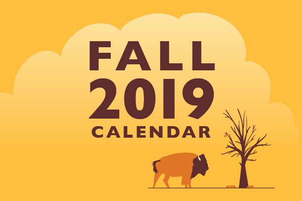 Fall 2019 Calendar